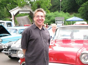 Author standing in front of car at Skippack Classic Car Show