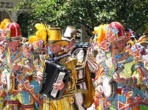 Mummers during July 4th parade