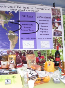 Booth Promoting fair trade